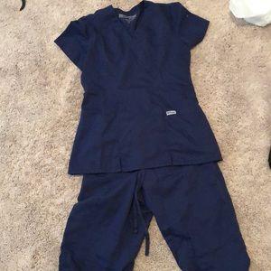 Navy greys anatomy scrub set